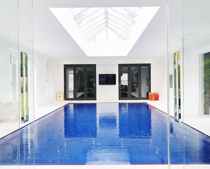 Outdoor indoor swimming pool construction build in esher for Swimming pool builders