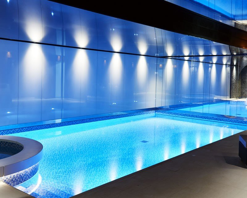 Beautifully Lit Basement Swimming Pool