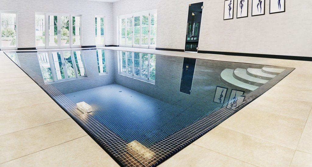 Outdoor indoor swimming pool construction build in Basement swimming pool construction