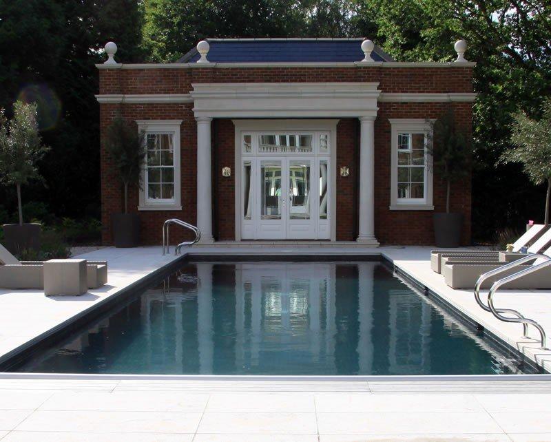 outdoor indoor swimming pool construction build in surrey